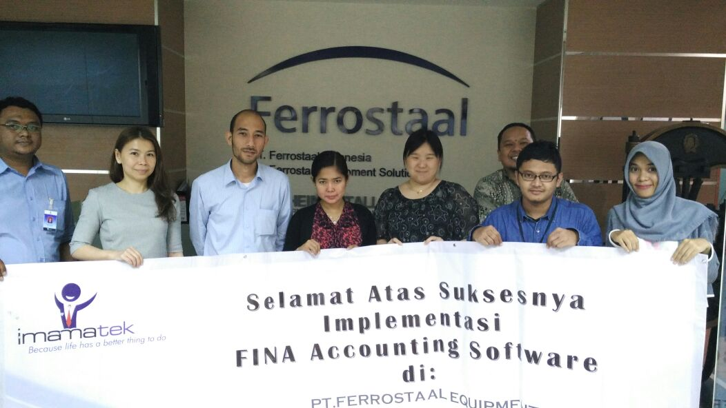 Sign off ceremony implementasi FINA Software Akuntansi di PT Ferrostaal Equipment